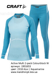 Комплект термобелья Craft Active Multi 2-pack Colorblocking Women 1901653